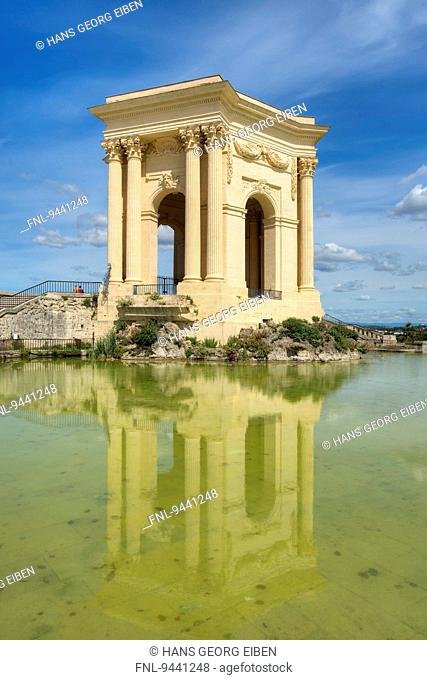 Water tower, Place Royale du Peyrou, Montpellier, France, Europe