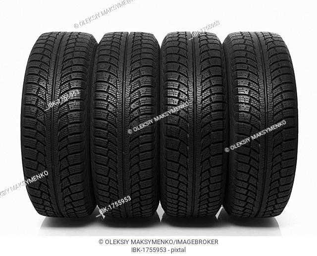 Set of four winter tires