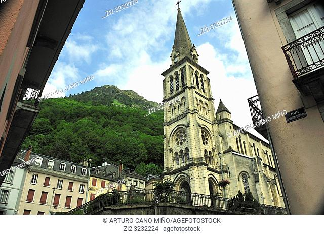 The Church of Our Lady, 19th century. Cauterets town, Hautes-Pyrénées department , Occitanie region, France