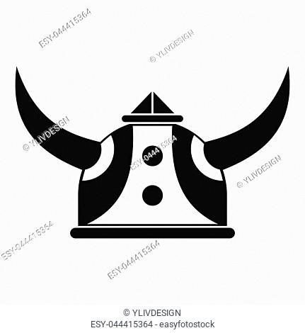 Viking helmet icon. Simple illustration of viking helmet icon for web