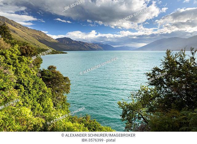 Cloudy sky over Lake Wanaka, Makarora, Otago Region, New Zealand