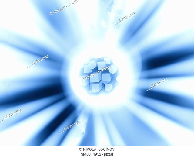 Star blast in space background illustration hd