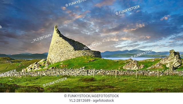 Pictures of Dun Carloway Broch on the Isle of Lewis in the Outer Hebrides, Scotland. Brochs are among Scotland's most impressive prehistoric buildings and were...