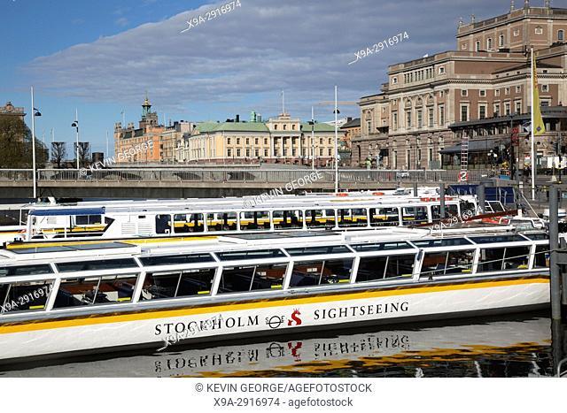 Tourist Sightseeing Boat, Stockholm; Sweden