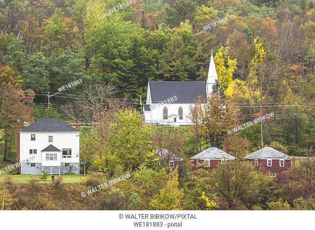 Canada, Nova Scotia, Clementsport, village view, autumn