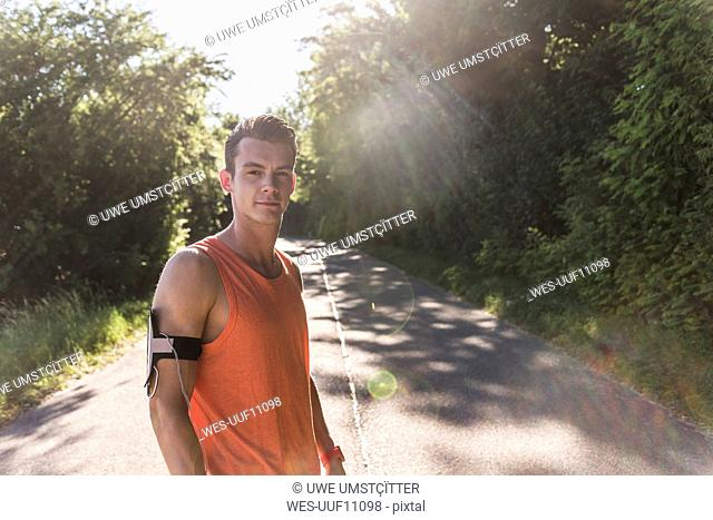 Portrait of an athlete in the park