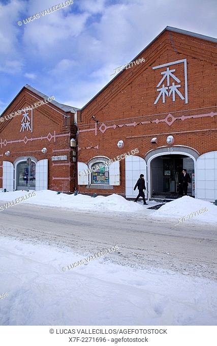 Red brick warehouse ,port,Hakodate,Hokkaido,Japan