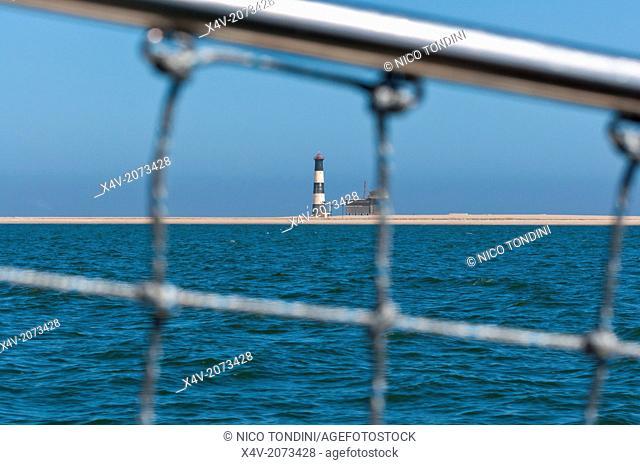Lighthouse at Walvis Bay, Erongo Region, Namibia, Africa