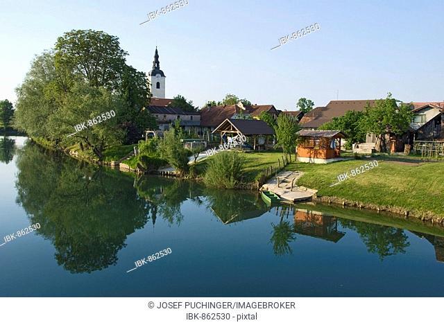 Village idyll, Kostanjevica, Slovenia, Europe