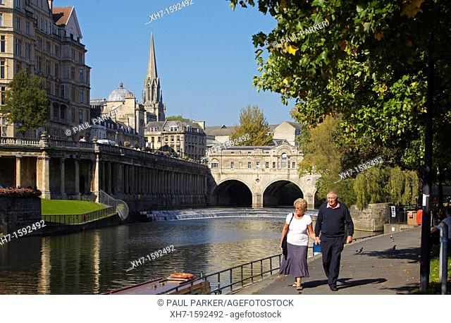 Pulteney Bridge, Bath, England, UK