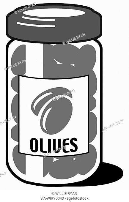 Jar of olives