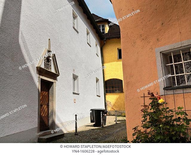 Residential street in Passau, Germany
