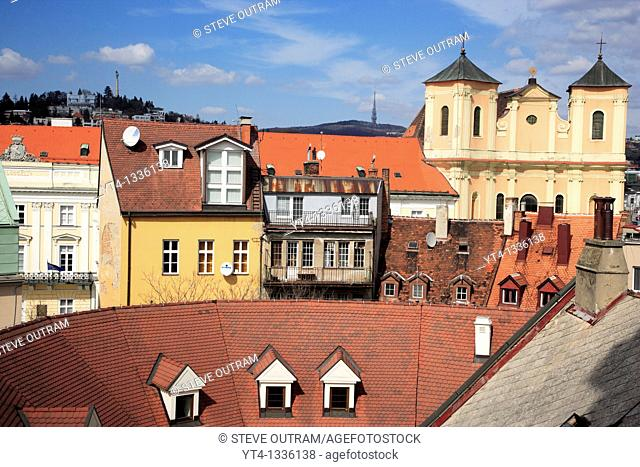 The Rooftops of Old Bratislava, Slovakia