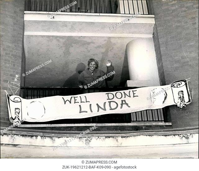 Dec. 12, 1962 - Britain's 15 Year Old 'Golden Girl' Swimmer Arrives Back Home - Back Home at Sydonne in Hill, London is Britain's Wonder girl swimmer