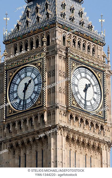 Big Ben Clock Tower Closeup