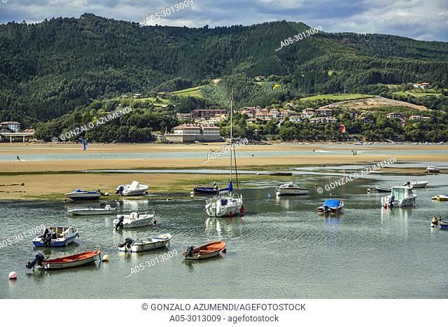 Laida Beach. Urdaibai biosphere Reserve. Urdaibai. Region..Bizkaia. Basque Countray. Spain