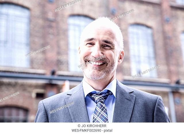Mature businessman smiling, portrait