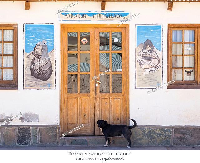 Village Tolar Grande in Argentina near the salt flat Salar de Arizaro . South America, Argentina