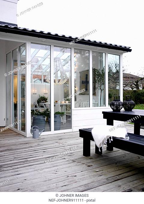 A terrace, Sweden