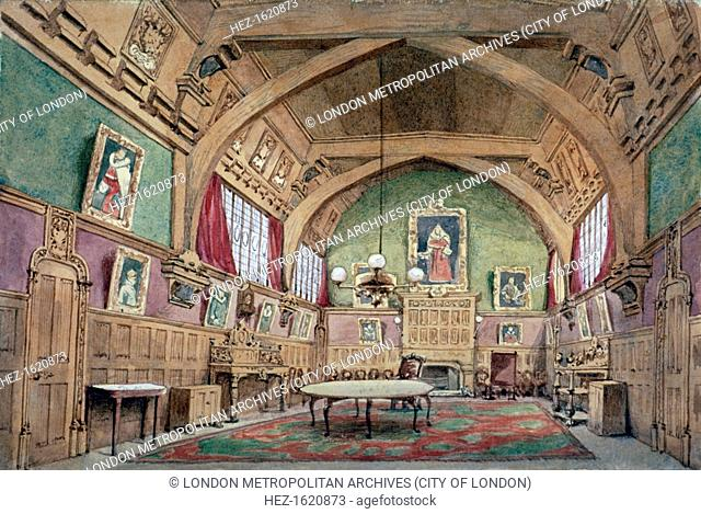 Interior view of the hall in Barnard's Inn, London, c1875