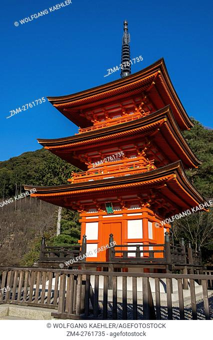 The Koyasu-no-to pagoda in the hills near the Kiyomizu-deraTemple (UNESCO World Heritage Site) in Kyoto, Japan