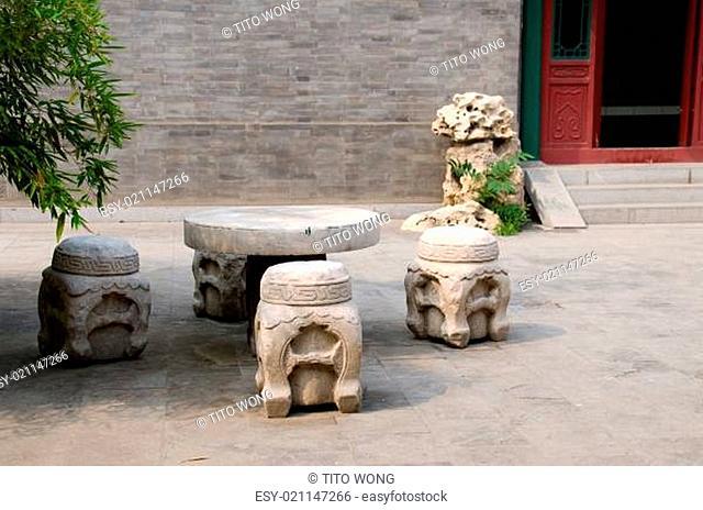 Tone furniture at Chinese garden