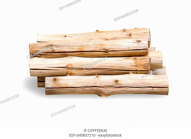 firewood wood logs isolated on white background