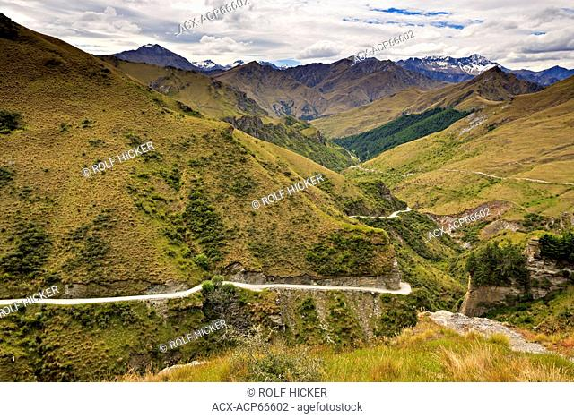 Skippers Canyon near Queenstown, Central Otago, South Island, New Zealand