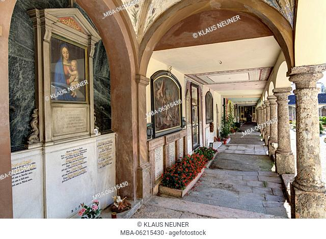 Church of St. Nicholas, cemetery, funeral, Mariahilf, Innsbruck, Tyrol, Austria