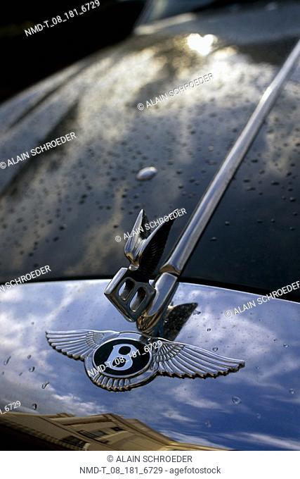 Close-up of a hood ornament, London, England