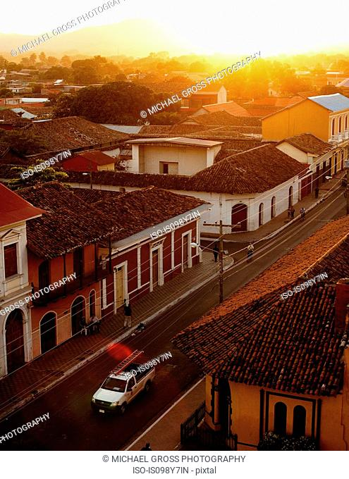Granada at sunset, Nicaragua, Central America