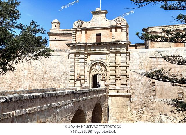 city gate of Mdina, Malta
