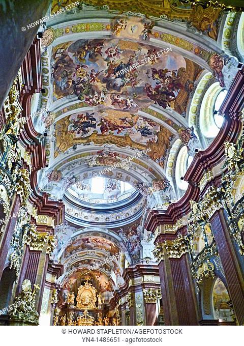 Melk Abbey Chapel, a Benedictine Monastery in the Wachau Valley, Austria