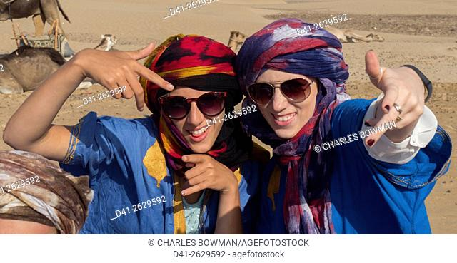cool girls funny and Berber cheche headress