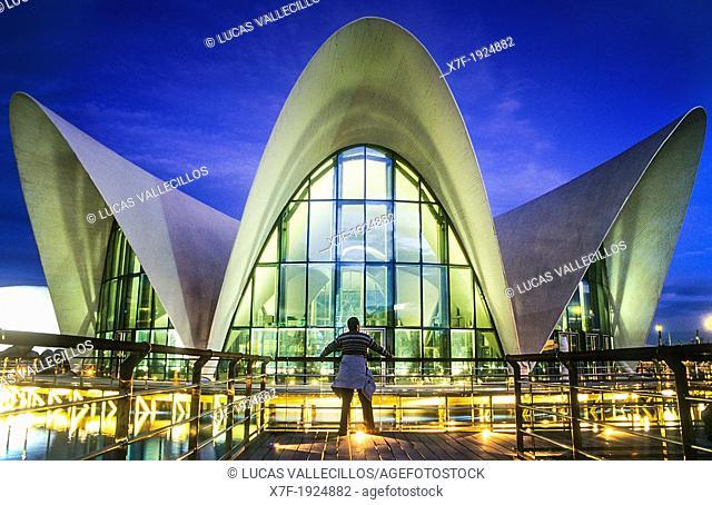 Oceanografic by Félix Candela, in City of Arts and Sciences by S  Calatrava  Valencia  Spain