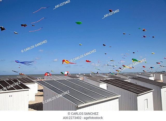 Europe, Belgium, International Kite Festival; Ostend