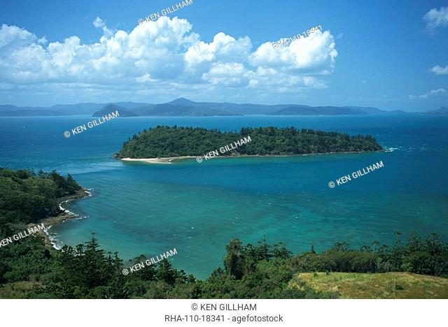 View to Planton Island, South Molle Island, Whitsundays, Queensland, Australia, Pacific