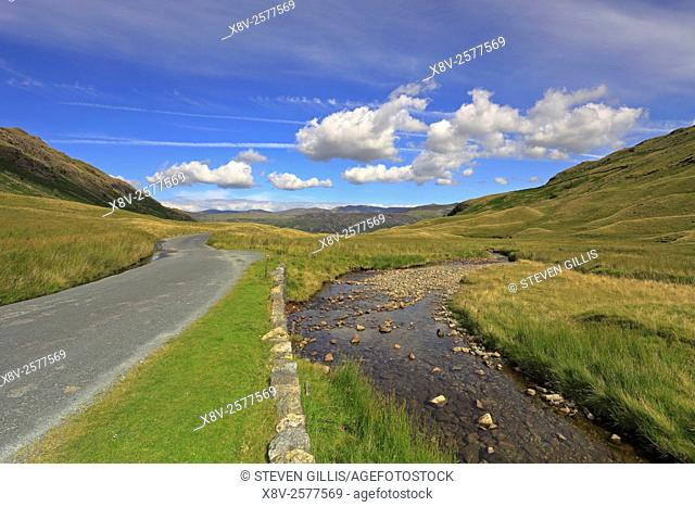 Eastern end of Honister Pass, Cumbria, Lake District National Park, England, UK