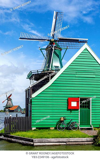 Windmills at Zaanse Schans, Amsterdam, Holland