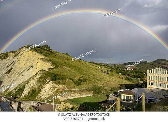 Rainbow, Zumaia, Basque Country, Spain