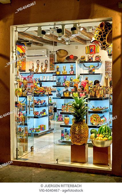 souvenir shop in Cartagena de Indias, Colombia, South America - Cartagena de Indias, Colombia, 30/08/2017