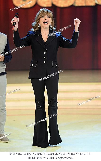 The host Milly Carlucci during the tv show Ballando con le stelle, Rome, ITALY-25-02-2017