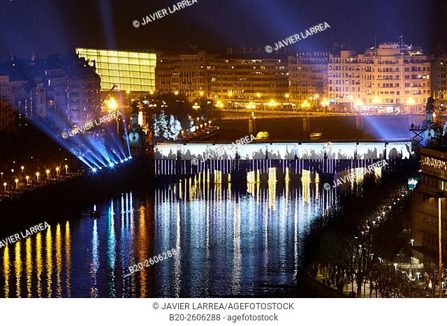 "The main event of San Sebastian 2016's inauguration with more than 50,000 spectators who have taken part in the symbolic construction of the """"bridge of..."