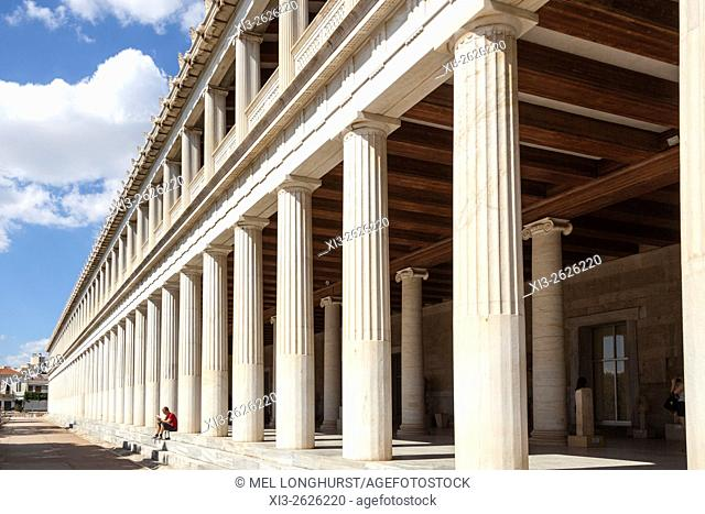 Stoa of Attalos and Agora Museum, Ancient Agora of Athens, Athens, Greece