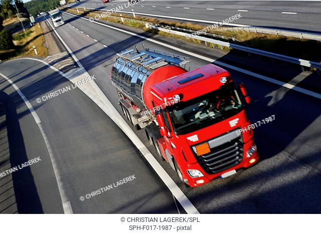 Fuel truck on motorway