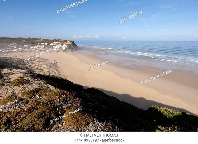 Algarve, swimming, rock, cliff, cliffs, sea, Monte Clerigo, Portugal, Europe, beach, seashore, Aljezur, scenery, landscape, sand, sand beach
