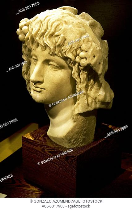 Bust of Bacchus. 1st and 2nd century after Christ. Vivanco Museum of Wine Culture. Briones. La Rioja. Spain