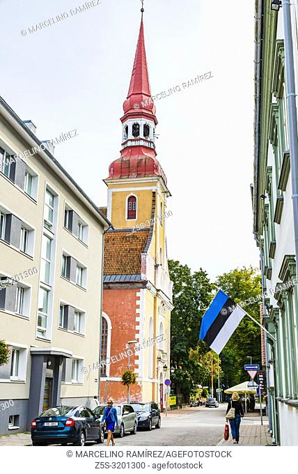 The ultimate summer holiday destination in Estonia. Street of Parnu - Pärnu - , Pärnu County, Estonia, Baltic states, Europe