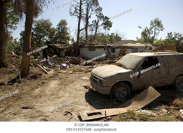 Ninth Ward Home with SUV