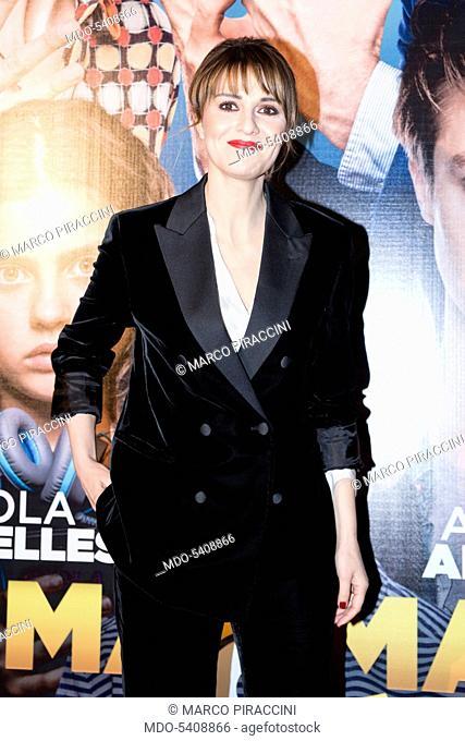Actress Paola Cortellesi at national Premiere of Mamma o PapÌÊ at Odeon cinema. Milan, February 14, 2017